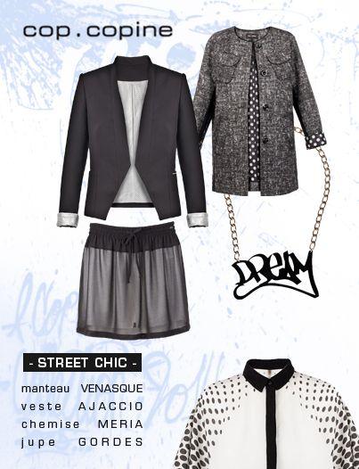 """-Street chic- les codes de la tendance """"street"""" revus et féminisés par Cop. Copine"""