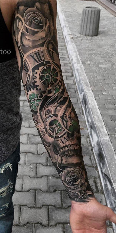 Tattoo Schattierungen Ganzer Arm