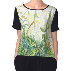 Watercolor wildflowers t-shirt by Alicja August