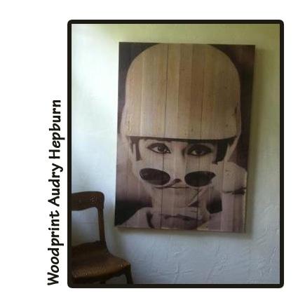 Woodprint Audrey Hepburn