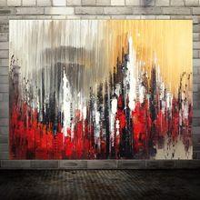 100% Ручная Роспись абстрактная живопись Маслом современного города Современный пейзаж мастихином Абстрактный Номер Украшения Стены Картину(China (Mainland))