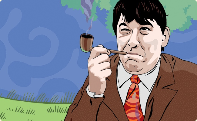 Graham Linehan THE WRITER OF THE IT CROWD, FATHER TED, BLACK BOOKS AND BIG TRAIN ALSO WROTE FOR THE DAY TODAY AND CO-WROTE THE FAST SHOW'S TED & RALPH. And great tweeter