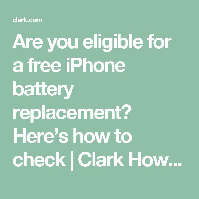 Are you eligible for a free iPhone battery replacement? Here's how to check | Clark Howard