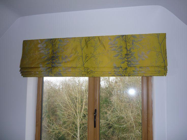 Stunning silk blend, jacquard weave bathroom roman blind