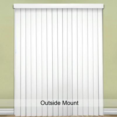 designview Crown-Cottage White 3.5 in. Vertical Blind - 78 in. W x 84 in. L - 10793478805020 - The Home Depot