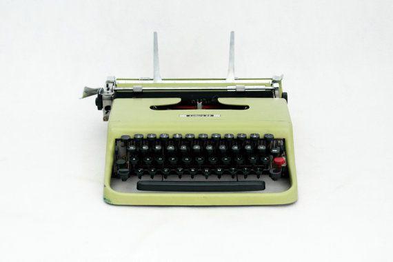 Vintage Typewriter Mid Century typewriter Portable Olivetti