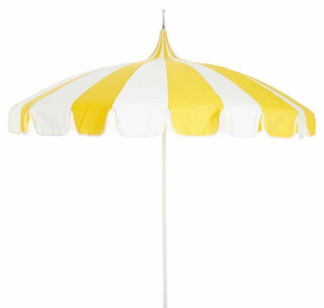 Pagoda+Patio+Umbrella,+Yellow/White