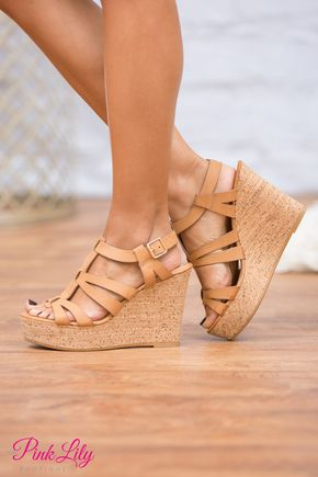 If you're looking for a classic wedge to start your collection, our Kinley Wedges are simply fabulous! Featuring a light beige faux leather material, these sweet wedges are perfect for pairing with yo