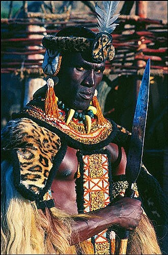 Henry Cele as Zulu king Shaka in the film of the same name