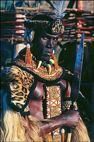 Henry Cele as Zulu king Shaka in the film of the same name