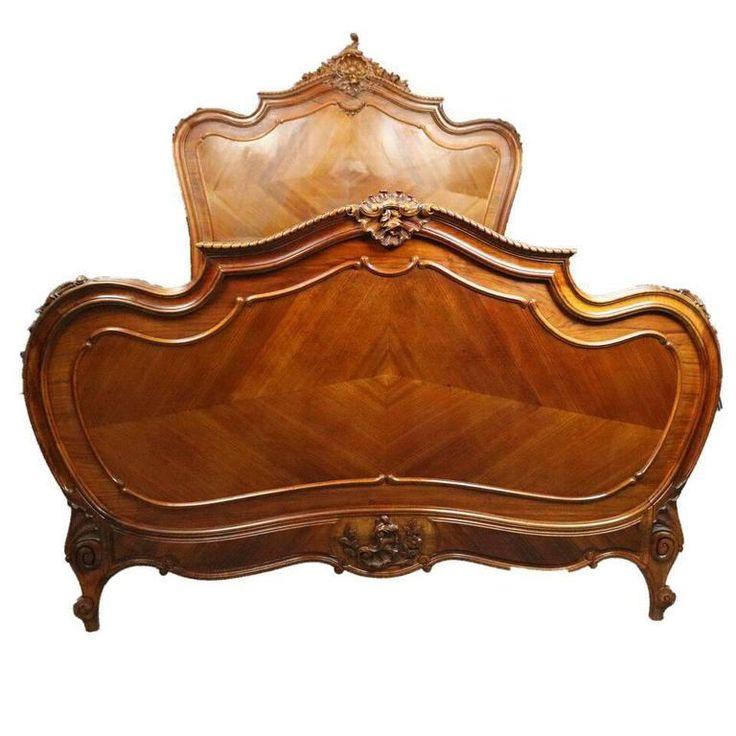 XV. Lajos stílusú antik bútor, barokk ágykeret