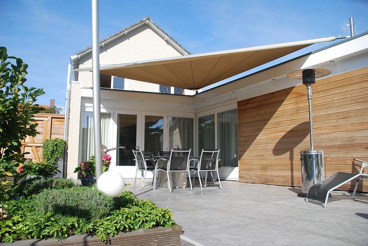 25 beste idee n over zonnezeil op pinterest achtertuin schaduw en buiten schaduw - Buiten terras model ...