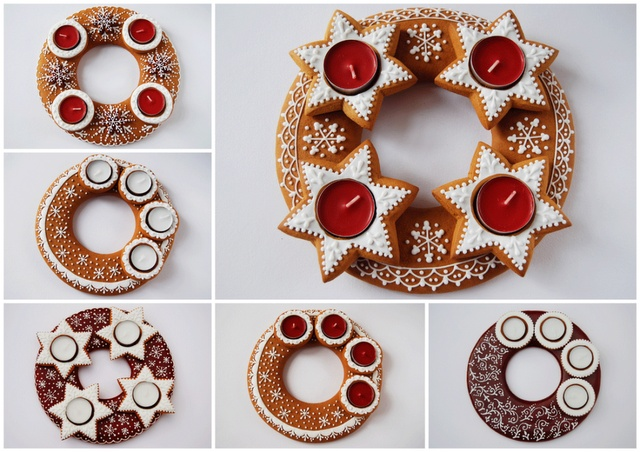 I saw her creations last year and this year it is again just wonderworking... All made by herself from gingerbread! I just love it! (:
