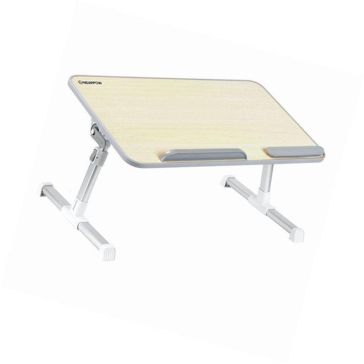 Adjustable Laptop Stand Bed Tray Table Portable Standing Desk Foldable Legs Read #Unbranded #Modern