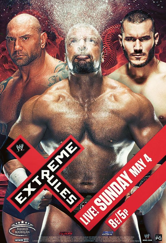 WWE Extreme Rules 2014 Poster by MhMd-Batista