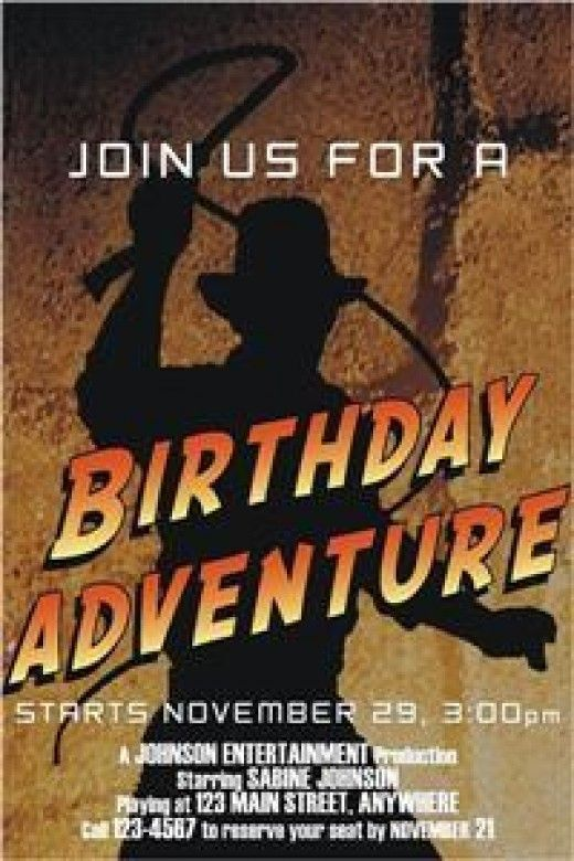 Indiana Jones birthday party ideas and themed party supplies here! Find party decorations, favors,invitations, cake, cupcake, party food and game ideas and items to throw an awesome birthday celebration.  Every child wants to be adventurous and what...