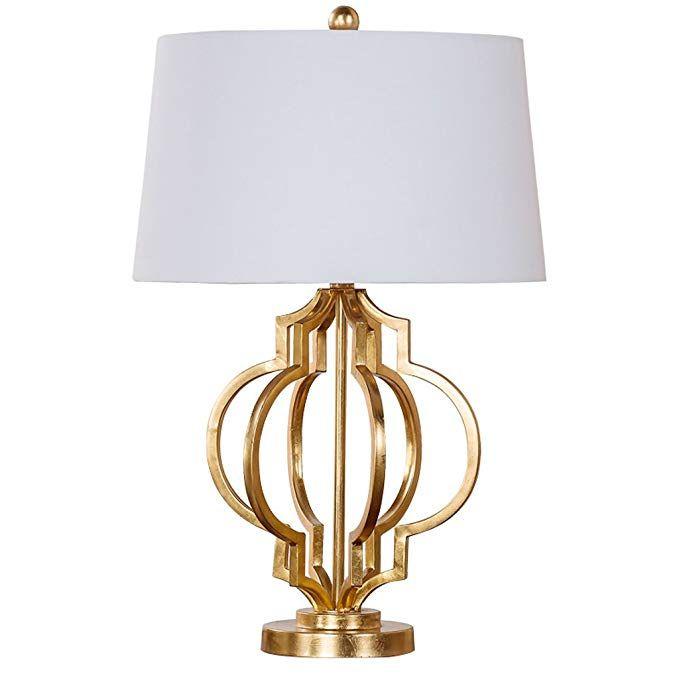 Miluce Retro Tischlampe Innenbeleuchtung Schreibtisch Lampe Gold