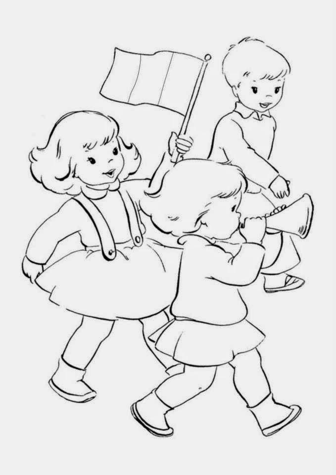 Jocuri pentru copii mari şi mici: Fise de colorat educative de 1 decembrie