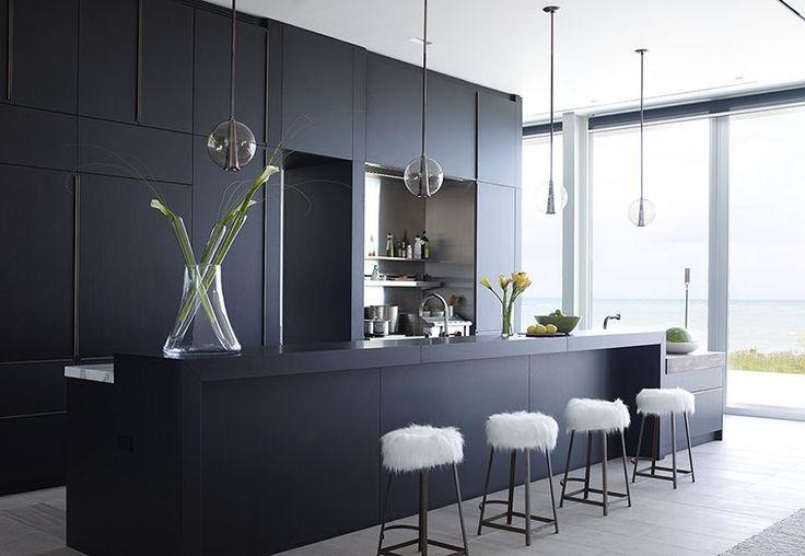 Sleek and Chic Black Cabinets - ELLEDecor.com
