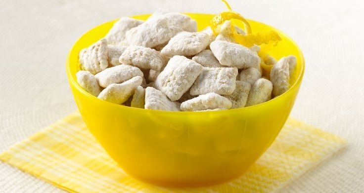 Ingredients 9 cups Rice Chex™ cereal 1 1/4 cups white vanilla baking chips 1/4 cup butter or margarine 4 teaspoons grated lemon peel 2 tablespoons fresh lemon juice 2 cups powdered sugar Steps Into large bowl, measure cereal; set aside. In 1-quart microwavable bowl, microwave chips, butter, lemon peel and juice uncovered on High 1 …