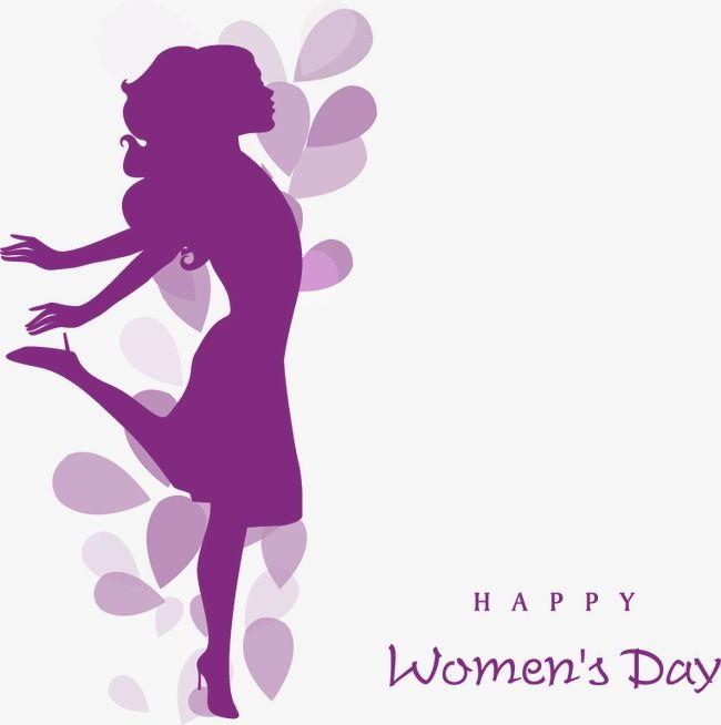 El Dia De La Mujer Elementos Decorativos Silueta Cifras El Dia