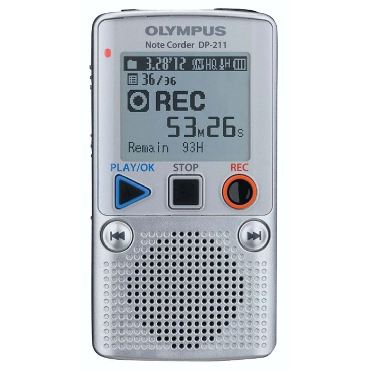 OLYMPUS - DP-211 Digital Voice Note-taker - OLYMPUS - DP-211 Digital Voice Note-taker Ease Of Use And Reliability For Your Everyday Use The DP-211 maintains the same sense of convenience and ease-of-use of analog recorders, but provides even more memory, enhanced battery life and a larger LCD screen. The design incorporates large function buttons that make recording effortless. The DP-211 is specially designed to be even simpler to use than a tape based devise. Fans of analogue recorders…