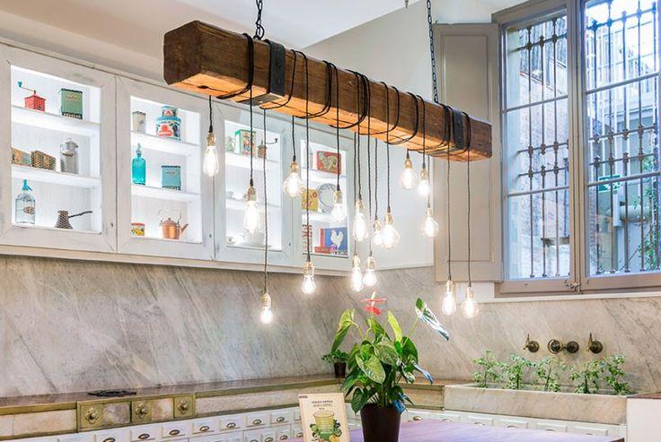 Las 25 mejores ideas sobre cadenas de luces exteriores en - Lamparas de techo hechas en casa ...