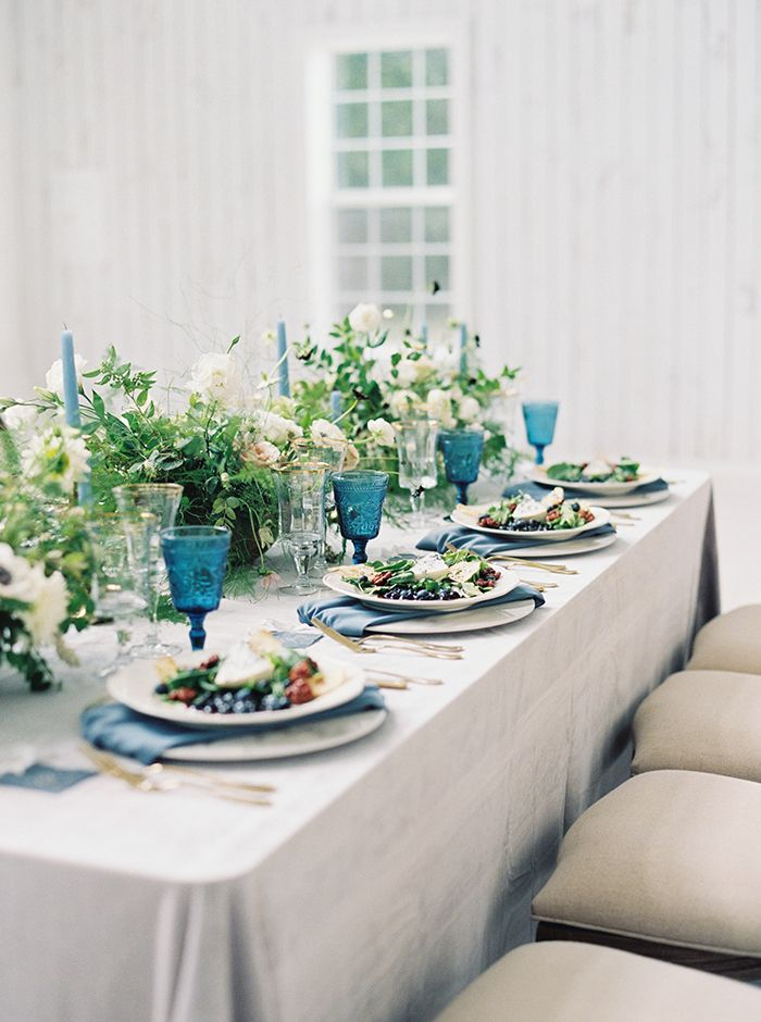 Jewel Toned Summer Berry Saladsr  https://heyweddinglady.com/moody-blues-grays-southern-barn-wedding/    #wedding #weddings   #weddinginspiration #bluewedding #barnwedding #weddingflowers #tablescape #weddingdecor