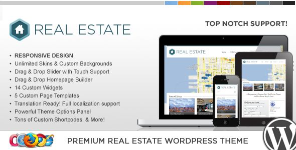 WP Pro Real Estate 3 Responsive WordPress Theme - ThemeForest Item for Sale