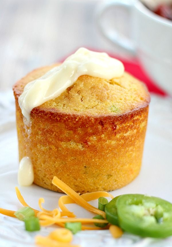 Cornbread Muffins with Cheddar, Scallions and Jalapenos are mixed in one bowl, taste AMAZING and will become your favorite cornbread recipe.