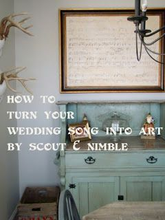 Because when you have a great wedding song- you turn it into art :))