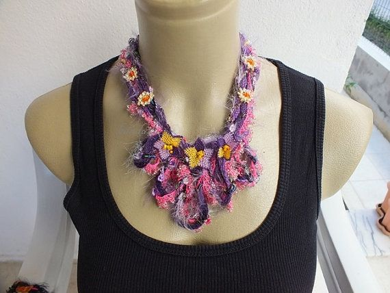 Lace Necklace for Valentines Day by Ceren Urmk on Etsy