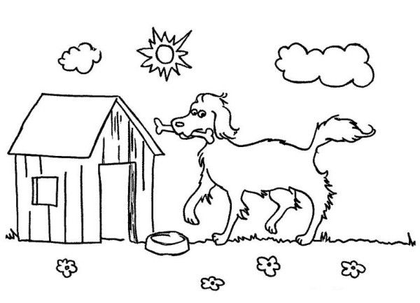 64779cd58dfeb7a30465b8f6d6006eb2 » Printable Pictures To Color Happy Dog