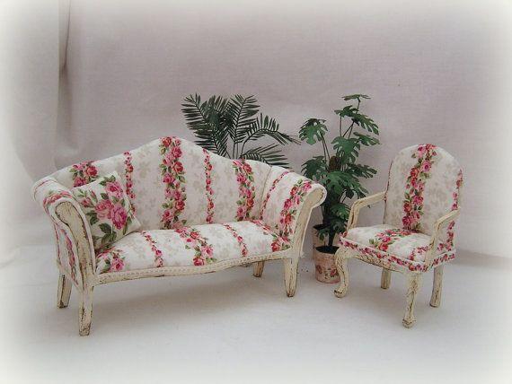 Dollhouse Miniature Furniture Tulip Armchair for 1//6  Dolls SL026