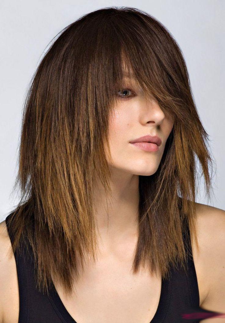awesome Экстравагантная косая челка на средние волосы (50 фото) — Модные идеи и особенности укладки