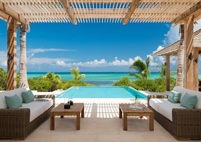 House of Turquoise: Castaway Villa- rental home in Turks & Caicos.  5 bedroom, about $2000 per night. !   Maybe if I find some rich friends to take a group vacation with one day...
