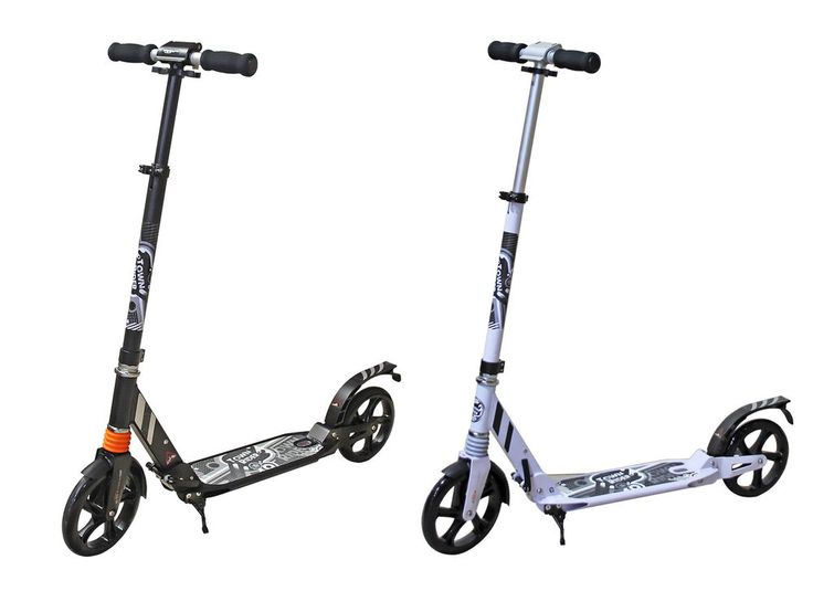 LARGE TOWN URBAN RIDER ADULT STREET COMMUTER FOLDING PUSH KICK SCOOTER