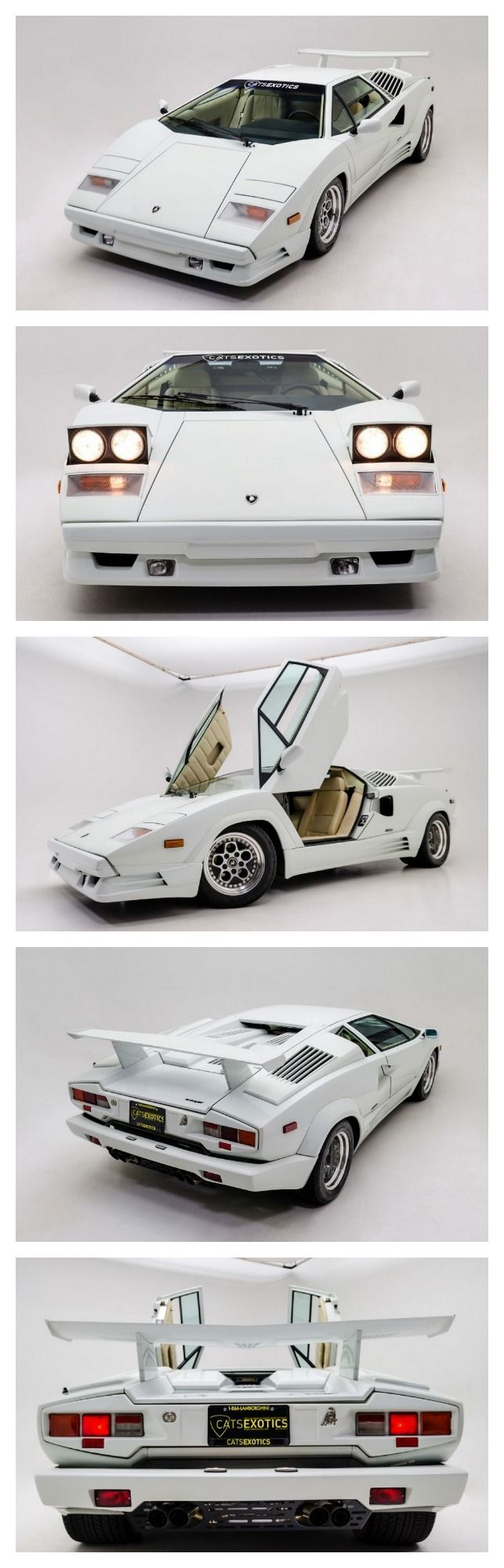 Stunning 1989 Lamborghini Countach 25th Anniversary Edition finished in Stunning Bianco White over Bone Leather interior. #WildWednesday