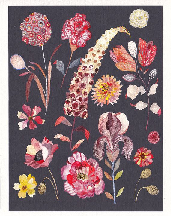 Botanicals No.1  Archival Print by unitedthread on Etsy, $40.00