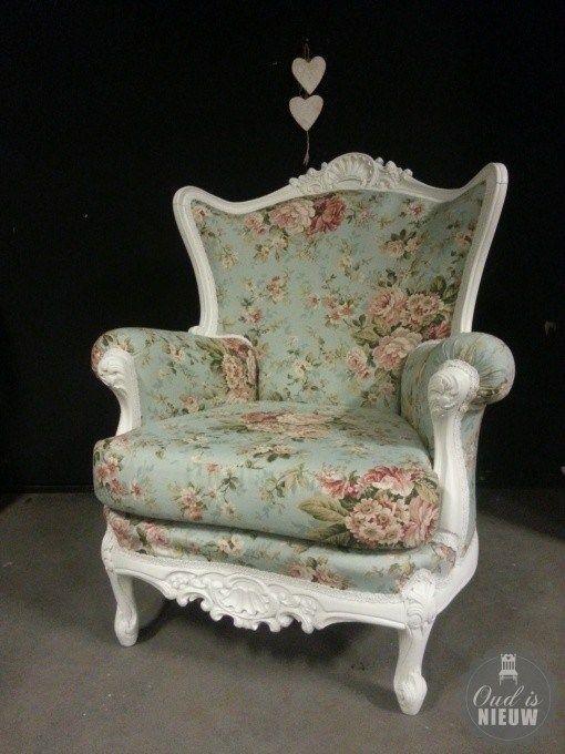 barokfauteuil met stof Rosella