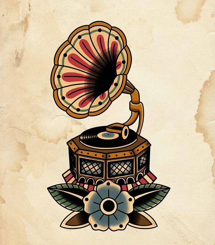 Grammaphon vorhanden! Schlagen Sie mich auf, wenn Sie tätowiert werden möchten 🌚 #tattoo #tattoo …   – Tattoo ideen