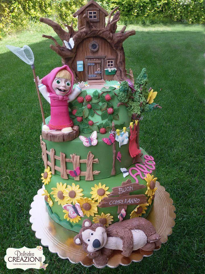 Torta Masha e Orso - Masha and the Bear cake