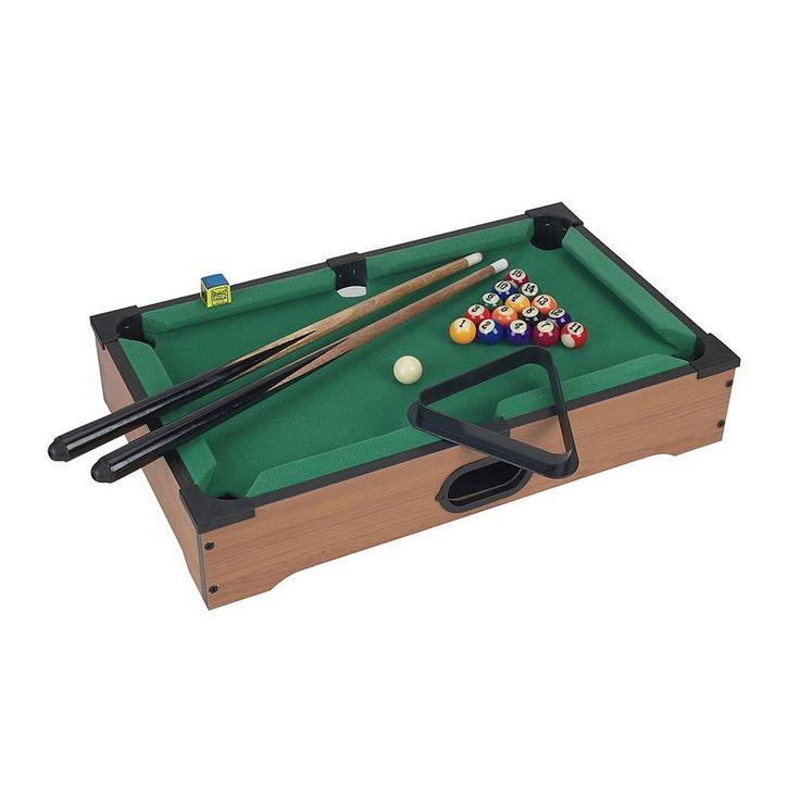 Mini Tabletop Pool Table, Brown