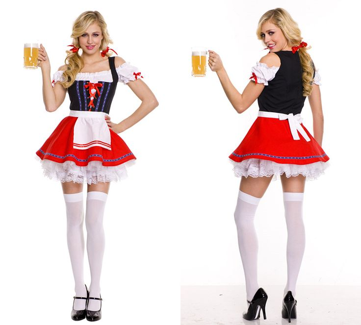 >> Click to Buy << German Bavarian Beer Maid Fancy Dresses Adult Ladies Oktoberfest Festival Fantasy Dress Up Party Outfit Set For Women Brand New #Affiliate
