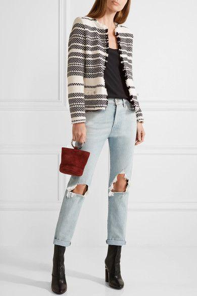 IRO - Zlata Striped Cotton-blend Tweed Jacket - Ivory - FR40