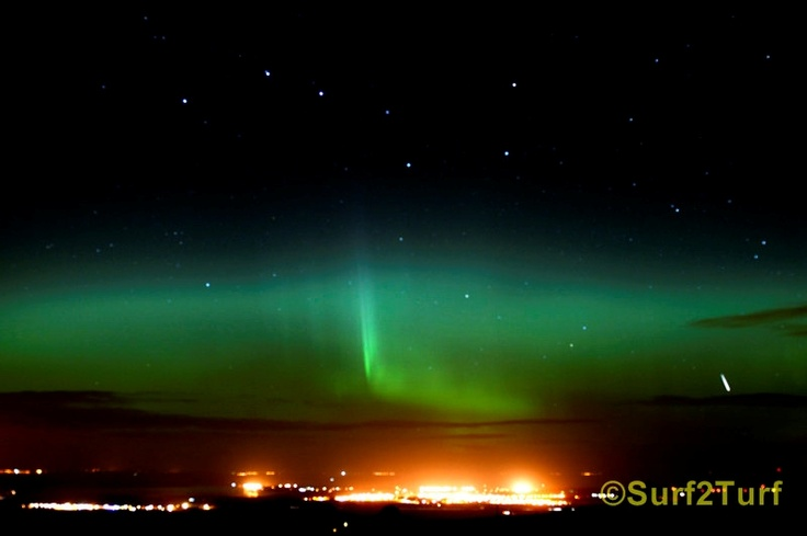 The Aurora over Kinloss and Moray Firth, Morayshire, Scotland
