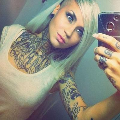 front neck tattoo inked pinterest neck tattoos patterns and tattoos and body art. Black Bedroom Furniture Sets. Home Design Ideas