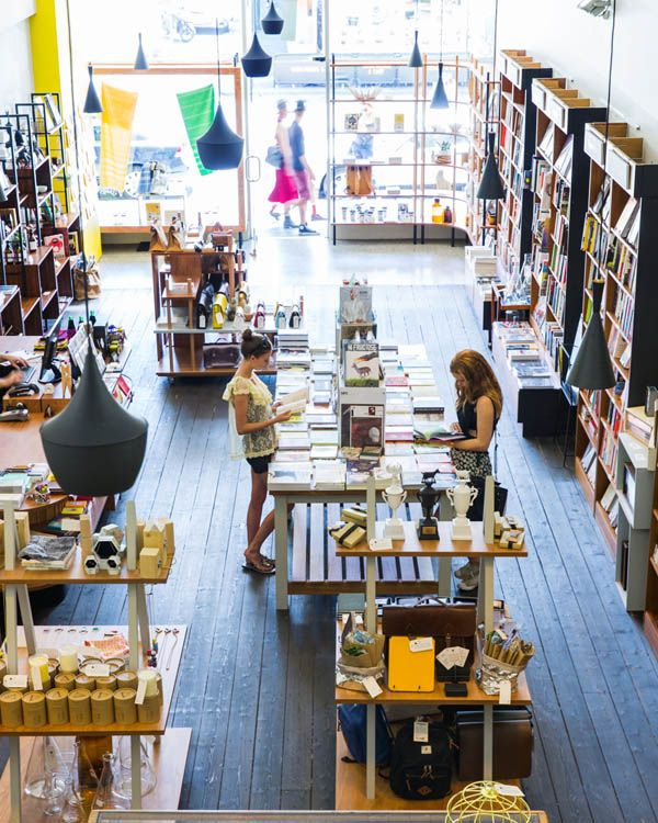 Collingwood's newest art / design bookstore - Happy Valley. Photo - Sean Fennessy. #rustic #retail #display