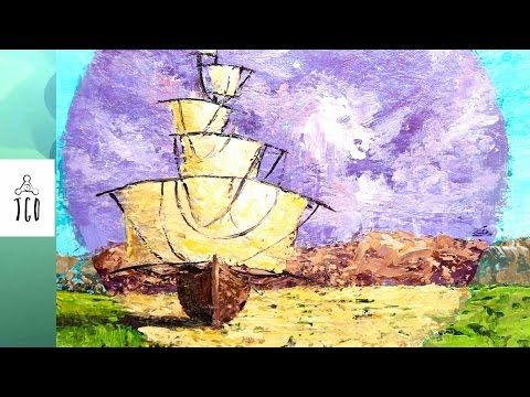 Landscape Painting Tale of the golden lands part 2 - YouTube