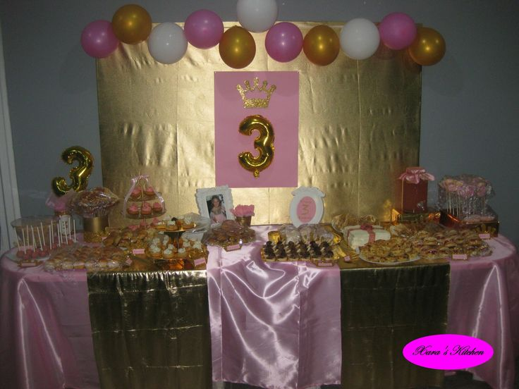 Pink and gold party Xara's Kitchen